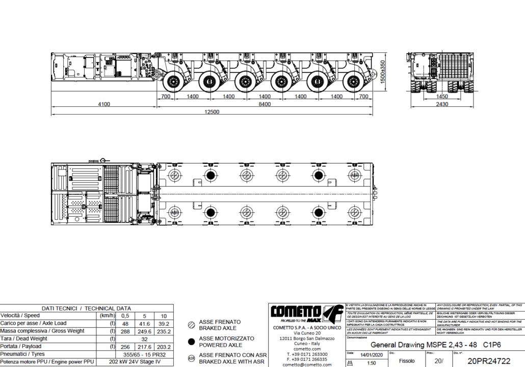 6 Achsen MSPE: SPMT mit PPU Autokrane Schares Cometto